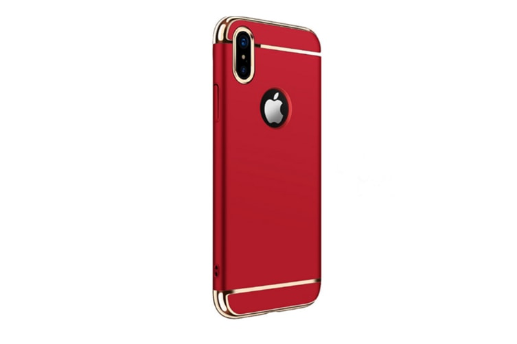 3 In One Splicing Plating Case For Iphone Red Iphone 8 Plus /7 Plus