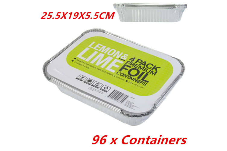 96 x Aluminium Foil Tray Disposable Takeaway BBQ Foil Trays food Container Restaurant