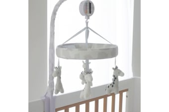 Bubba Blue Nursery Cot Muscial Mobile Grey Playtime