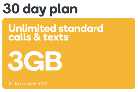 Kogan Mobile Prepaid Voucher Code: SMALL (30 Days | 3GB) - No SIM