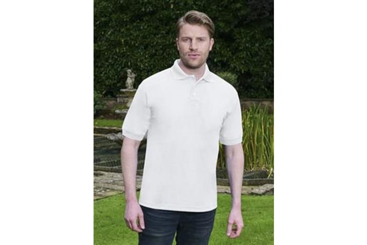 Absolulte Apparel Mens HydroFX Polyester Polo (White) (L)