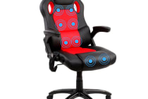 8 Point Massage Racing PU Leather Office Computer Chair (Black/Red)