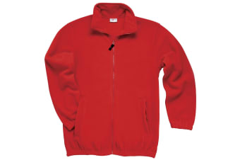 RTXtra Mens Classic Pill Resistant Fleece Jacket (Red)