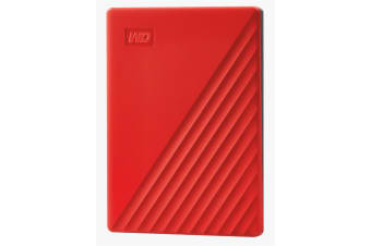 """WD My Passport 2TB 2.5"""" USB 3.0 Portable External HDD - Red Colour"""