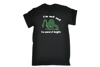 123T Funny Tee - Im Not Sad Scared Of Heights - (XX-Large Black Mens T Shirt)
