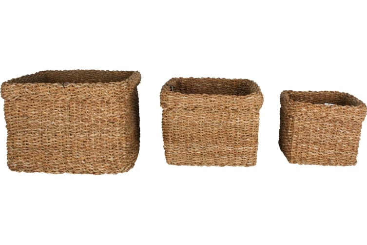 Yallingup Sea Grass Square Basket Set of 3