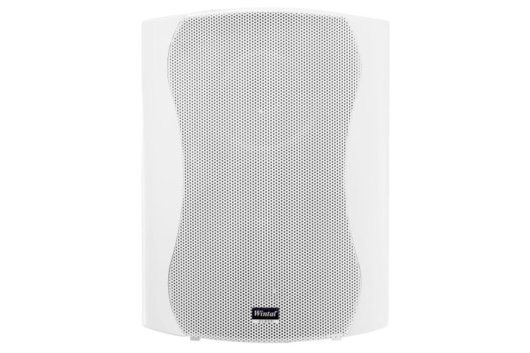 """Wintal 2-Way 6.5"""" Indoor Wall Active Box Speaker 60W RMS w/ Class D Amp White"""