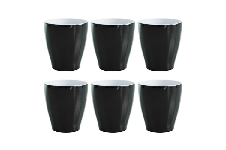 f9daa03af70 6x Avanti Boston Melamine Cup Black 300ml Coffee Tea Drink Tumbler Kids BBQ  Tone - Kogan.com