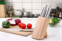 Ovela 6 Piece Japanese Stainless Steel Knife Block Set