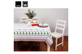 Very Merry Cotton Tablecloth by Ladelle