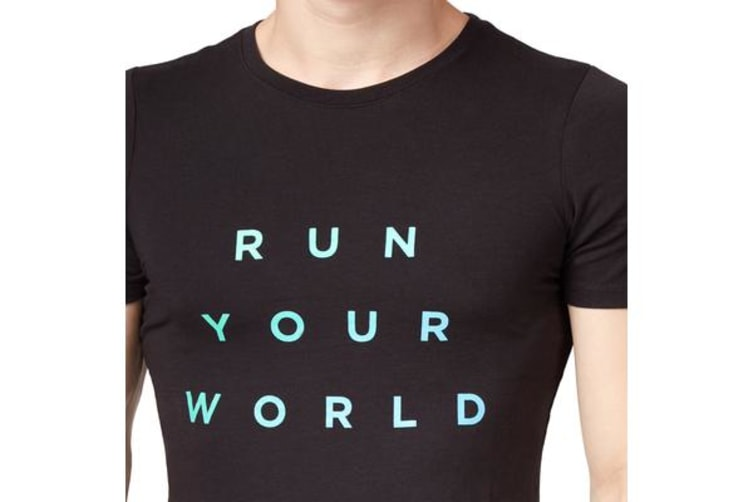 Saucony Men's Run Your World Tee (Black, Size XS)