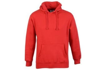 Casual Classic Mens Pullover Hood (Red) (M)