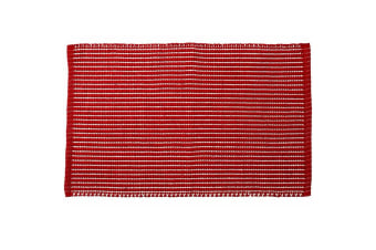 Ladelle Classic Cotton Kitchen Mat 50 X 80cm - Red