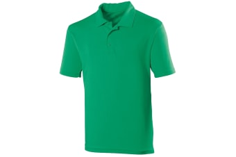 Just Cool Mens Plain Sports Polo Shirt (Kelly Green)