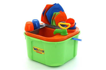 18pc Wader Wash Up Cleaning/Kitchen Sink Pretend Play/Toys for Kids/Toddler Set
