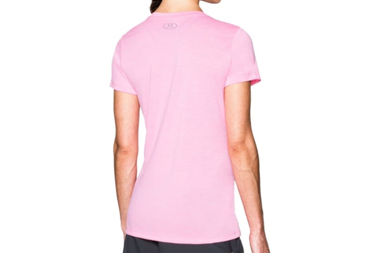 Under Armour Women's Twisted Tech V-Neck (Shirt (Pink Craze, Size XL)