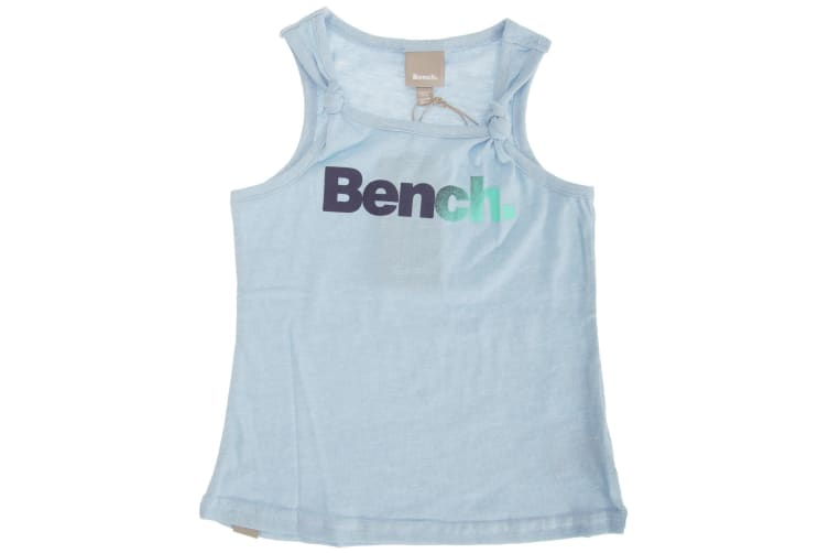 Bench Childrens Girls Fairylike Sleeveless Summer Vest Top (Blue) (7-8 Years)