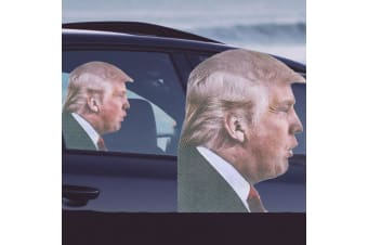 `Ride With` Novelty Car Window Decals - Trump