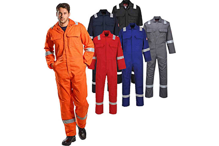 Portwest Bizweld Iona Flame Resistant Work Overall/Coverall (Orange) (L/R)