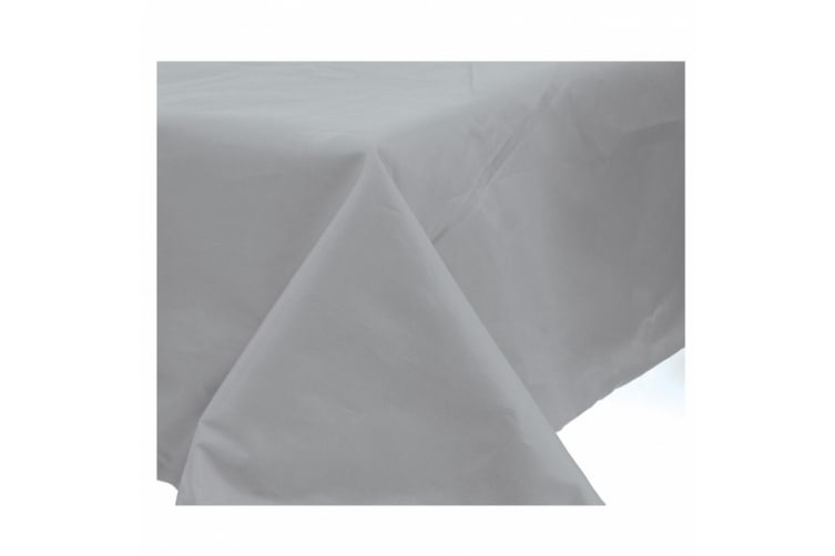 Amscan Plastic Lined Solid Colour Tablecover (Silver) (One Size)