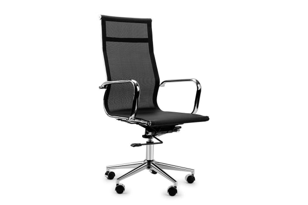 8 Point Massage Executive Computer Office Chair - Faux Leather Red