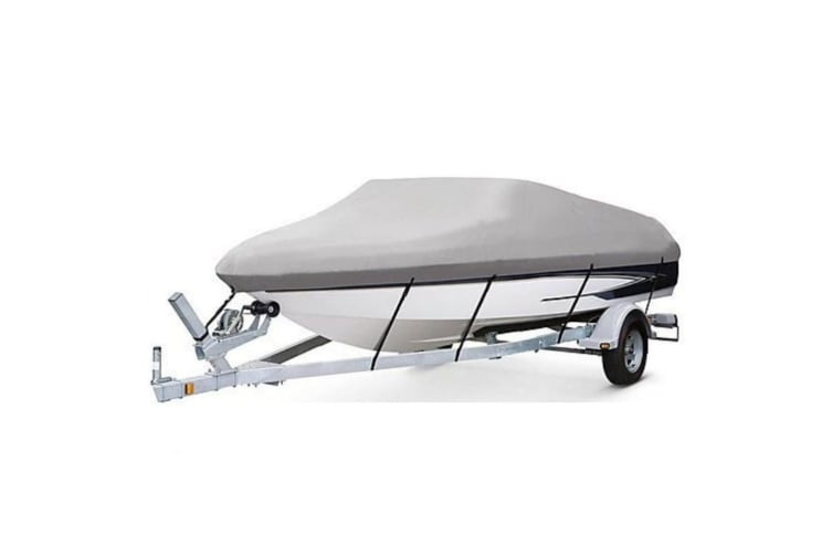 Kaiser Boating 14-16ft 4.2-4.8m Runabout Bass Boat Cover - Premium Heavy Duty 600D Marine Grade Oxford Polyester, Trailerable, Waterproof, UV Resistant