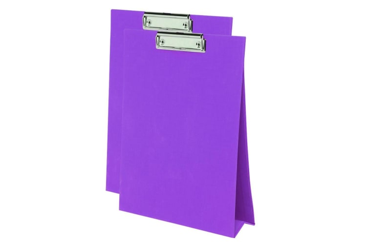 2PK ColourHide A4 Paper Stand Up Clipboard/Whiteboard Document Writing Board PP
