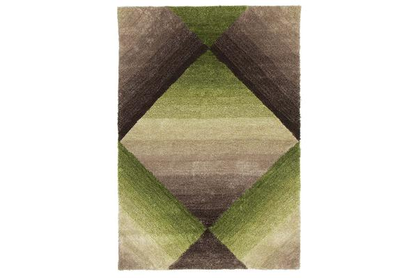 Maria Green Multi Coloured Textured Rug 280x190cm