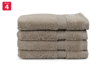 Onkaparinga Ultimate 100% Turkish Cotton Hand Towel Set of 4 (Mocha)