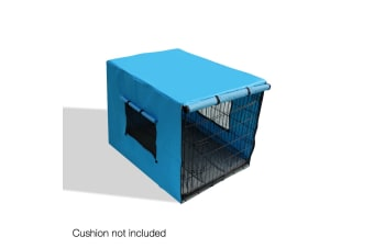 "36"" Foldable Metal Dog Cage with Cover (Black)"