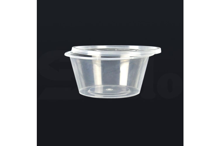 200 Pcs 800ml Take Away Food Platstic Containers Boxes Base and Lids Bulk Pack