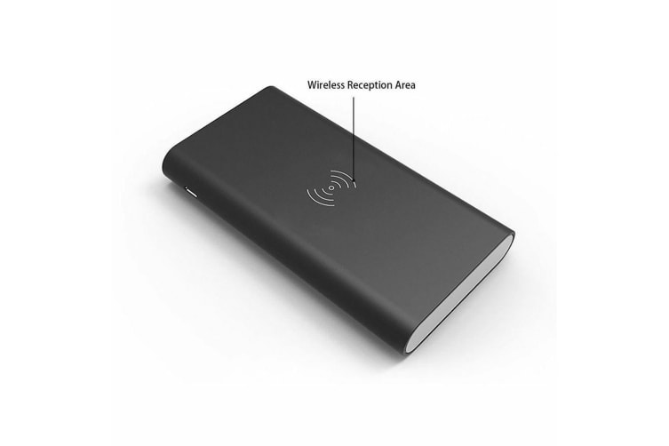 500000mAh Power Bank 2 in 1 Wireless Charger Case Portable USB Battery DIY Kit-Gary