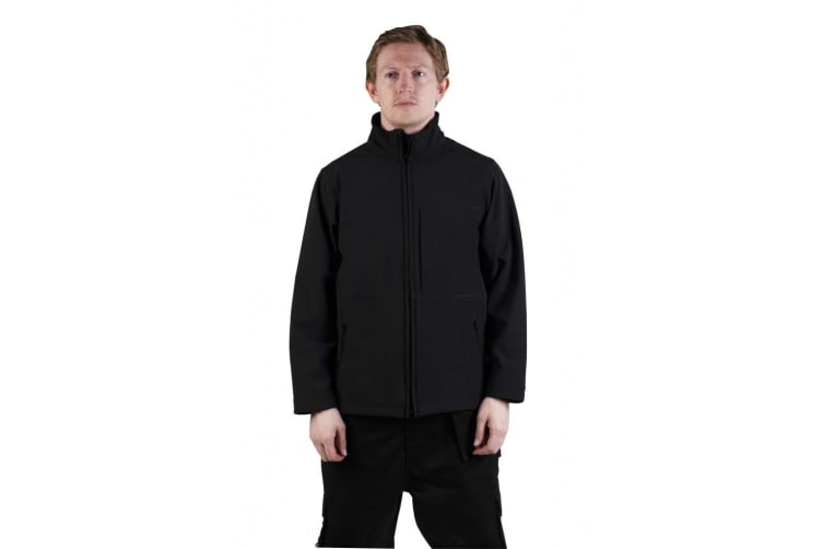 Glenwear Mens Hatton Softshell Jacket (Black) (XS)
