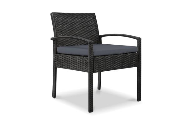 Gardeon Outdoor Rattan Chair (Black)