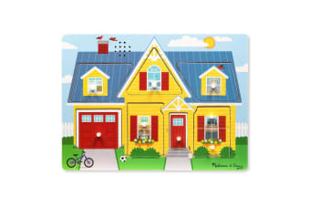 Melissa and Doug Around the House Sound Puzzle - 8 Pieces