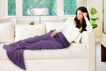Ovela Mermaid Tail Blanket (Adult, Purple)