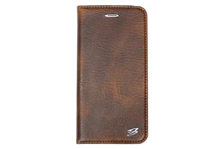 For iPhone 8 PLUS 7 PLUS Wallet Case Fierre Shann Genuine Cow Leather Cover