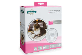 Petsafe Staywell Infra Red 4-Way Locking Deluxe Cat Flap (White) (One Size)