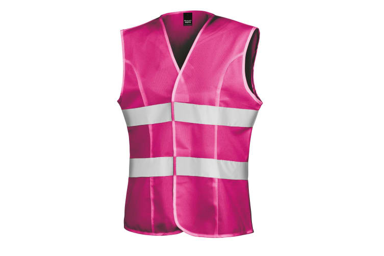 Result Womens/Ladies Reflective Safety Tabard (Pack of 2) (Fluorescent Pink) (S)