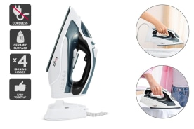 Kogan 2400W DuoGlide Cordless and Corded Steam Iron