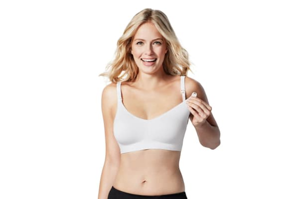 Bravado Body Silk Seamless Nursing Bra WHITE M