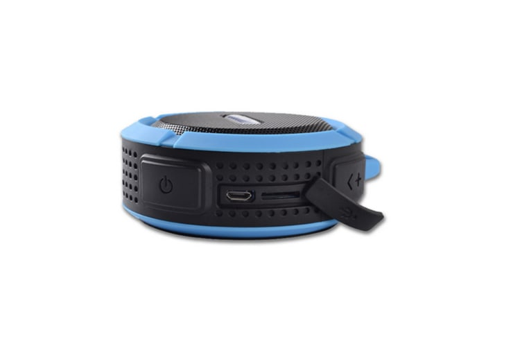 Wireless Waterproof Speaker With 5W Driver, Suction Cup, Buit-In Mic, Hands-Free Speakerphone