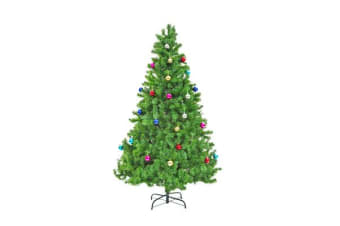 6Ft 180cm Green Xmas Tree - BAUBLES