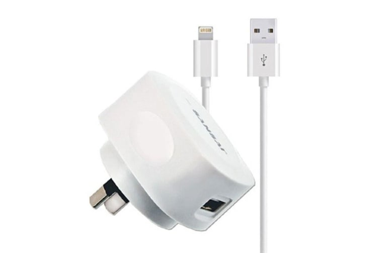 Sansai USB Wall Charger w/Charging Cable for Lightning Apple iPhone 7 8 X iPod