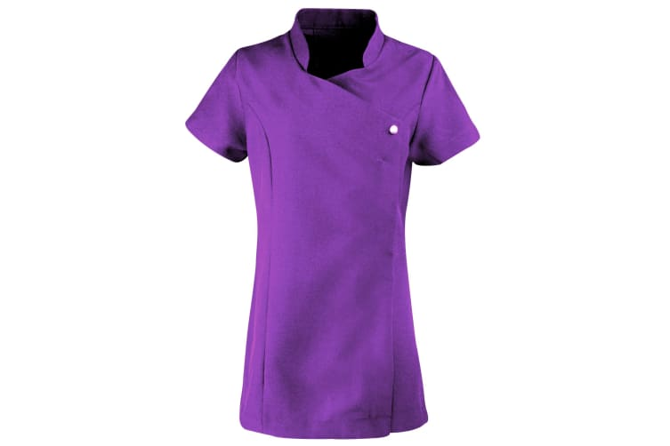 Premier Ladies/Womens *Blossom* Tunic / Health Beauty & Spa / Workwear (Pack of 2) (Purple) (20)