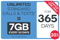 Kogan Mobile Prepaid Voucher Code: MEDIUM (365 Days | 7GB Per 30 Days) - 30% Off