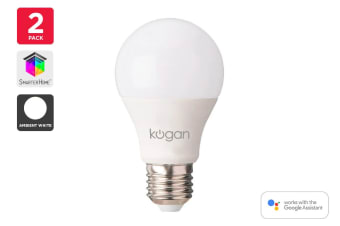 2 Pack Kogan SmarterHome™ 10W White Smart Bulb (E27)