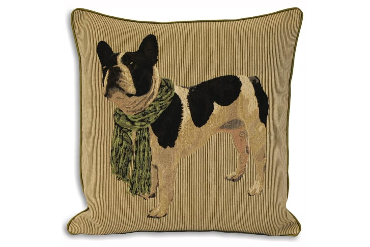 Riva Home Frenchie French Bulldog Cushion Cover (Lime) (45x45cm)