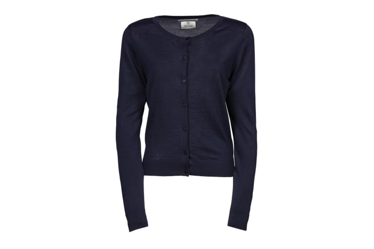 Tee Jays Womens/Ladies Knitted Button Up Cardigan (Navy Blue) (M)