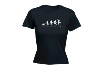 123T Funny Tee - Zombie Crawler Shambler Walker Runner Thriller - Black Womens T Shirt